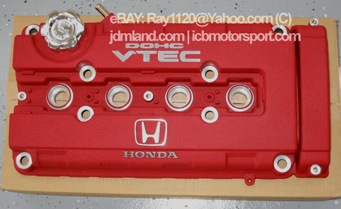 JDM Civic EK9 Type R Red Valve Cover with Oil Cap
