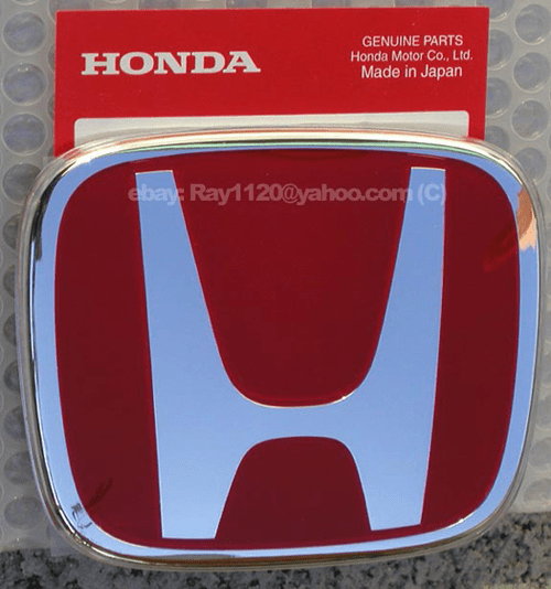 JDM Civic EP3 Type R Red H Front Emblem 02-05