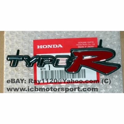 """JDM Civic EP3 Type R """"Type R"""" (Front Grill) Emblem"""