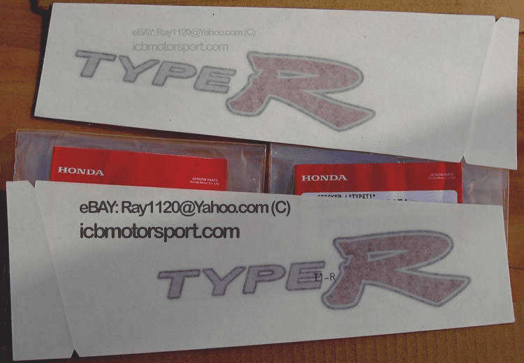 "JDM Civic EP3 Type R ""Type R"" Side Panel Decal Set 2002-2005"