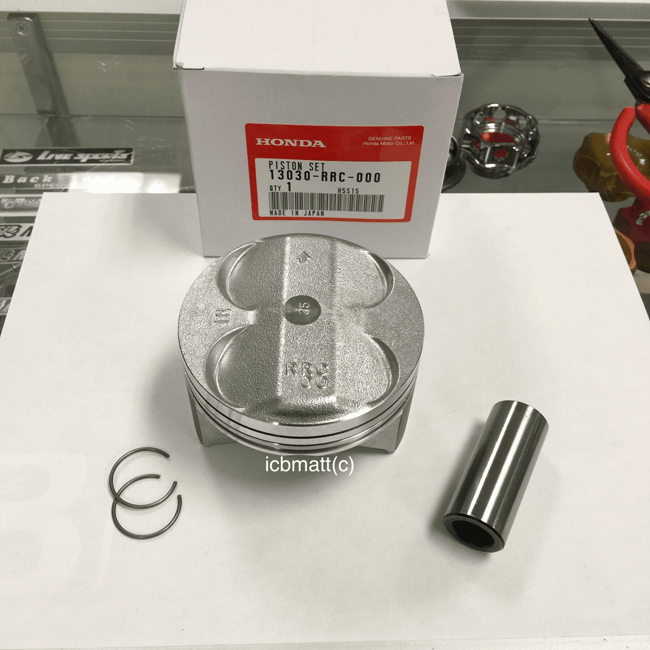 JDM Civic FD2 Type R RRC K20A Piston Kit (.25mm Oversize)