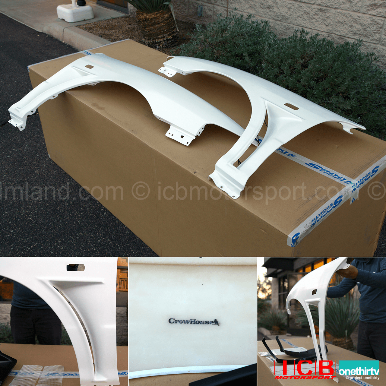 JDM Crowhouse DC2 FRP Wide Vented Fenders
