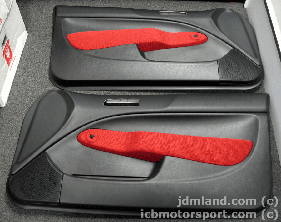 JDM EK9 Type R Door Panels Black w/ Red Cloth Manual or Power  Window
