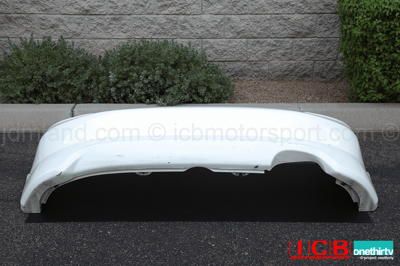 JDM EP3 Civic TypeR 02-05 Champ White Rear Bumper With Lip Spoiler