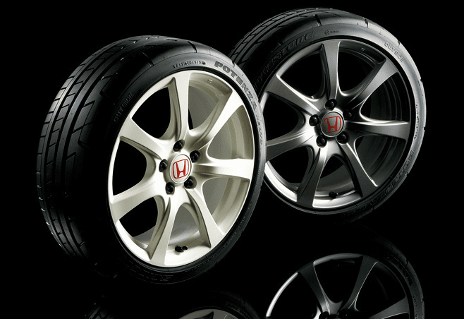 "JDM FD2 Civic Type R 18"" Gunmetal/Champ. White Rims - NEW"