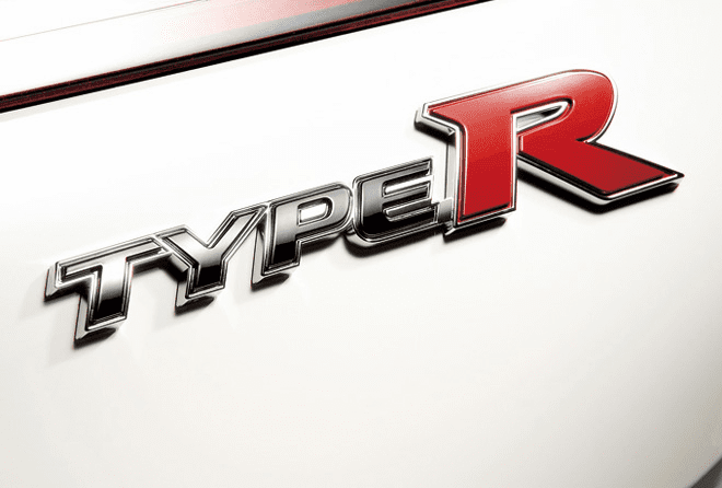 "JDM FD2 Civic Type R Rear ""Type R"" Emblem"