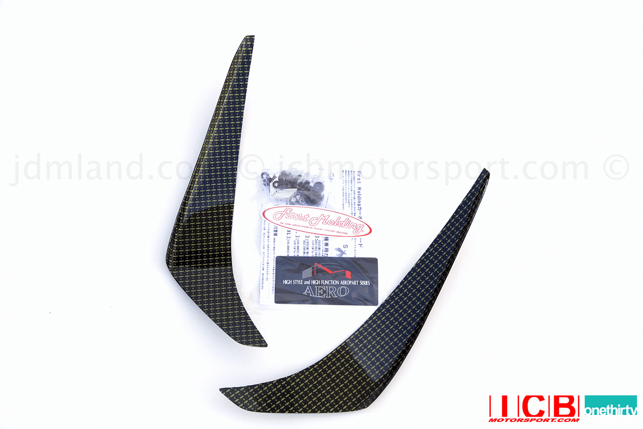 JDM First Molding Medium Carbon Kevlar Canards CL7/CL9 Accord Euro-R TSX