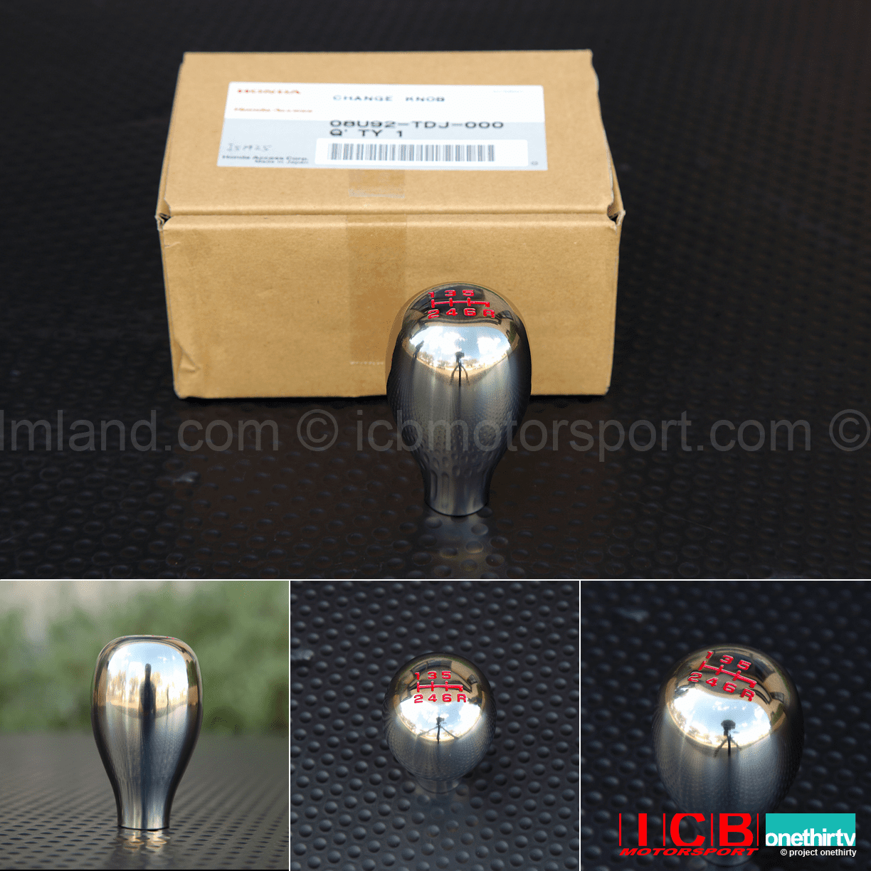 JDM Honda Access S660 Polished Titanium 6 Speed Knob Elongated TearDrop