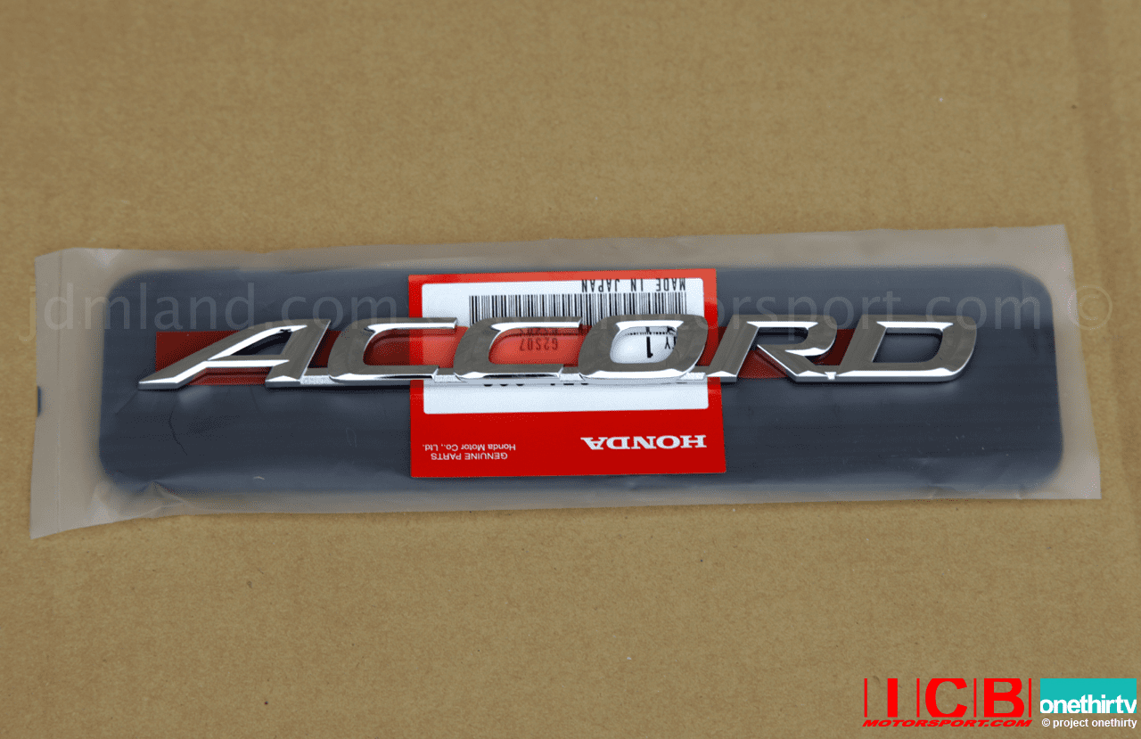 "JDM Honda Accord Euro-R CL7 Rear ""Accord"" Emblem"