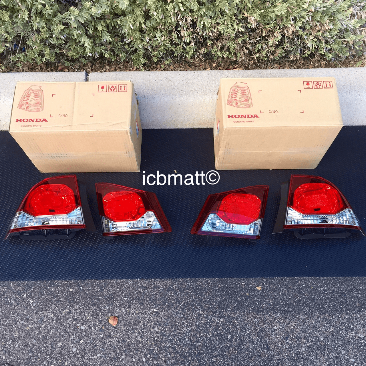 JDM Honda Civic FD2 Type R Taillights - 4 Pieces