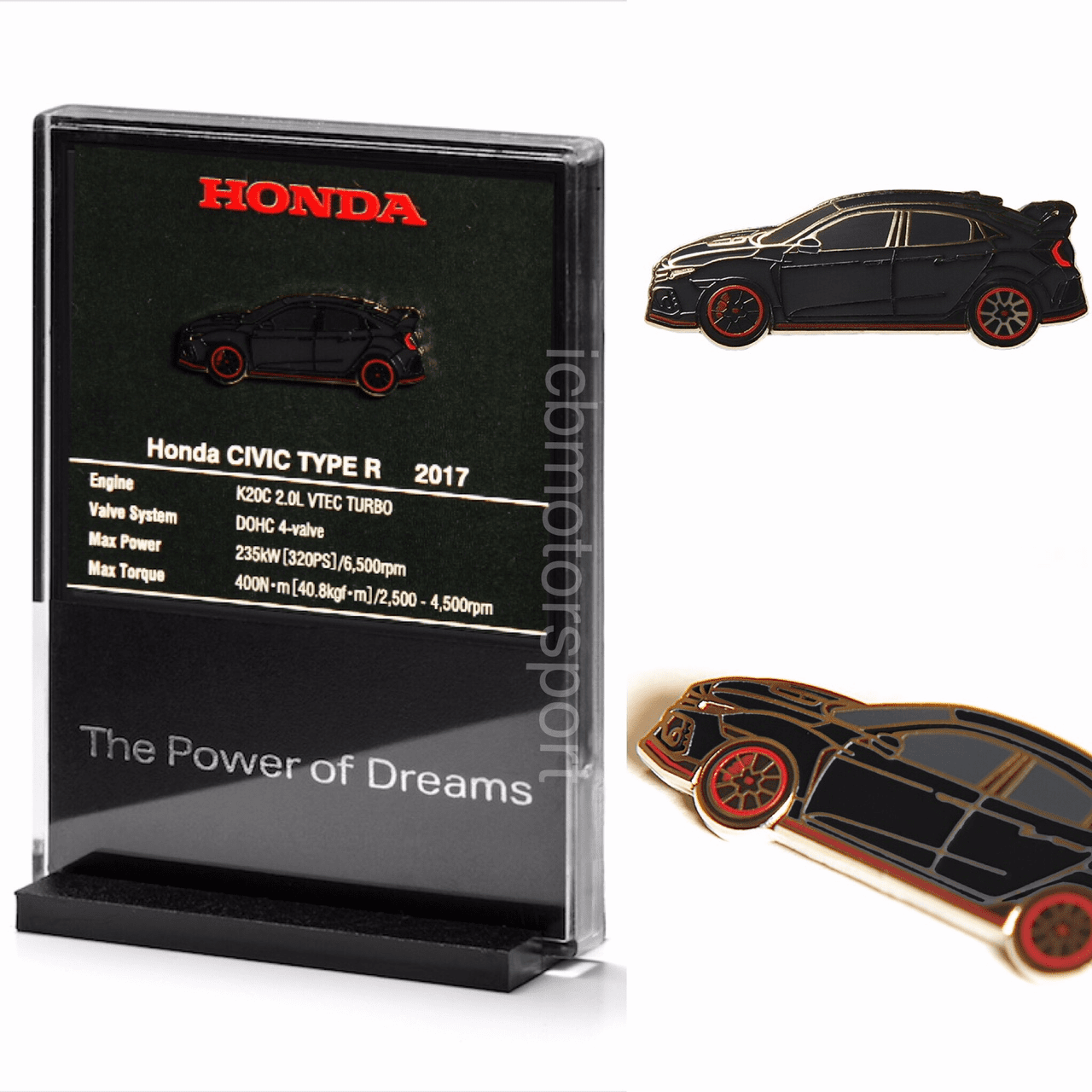 "JDM Honda ""Civic FK8 Type R"" Black Pin and Display Holder"