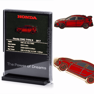 "JDM Honda ""Civic FK8 Type R"" Red Pin and Display Holder"