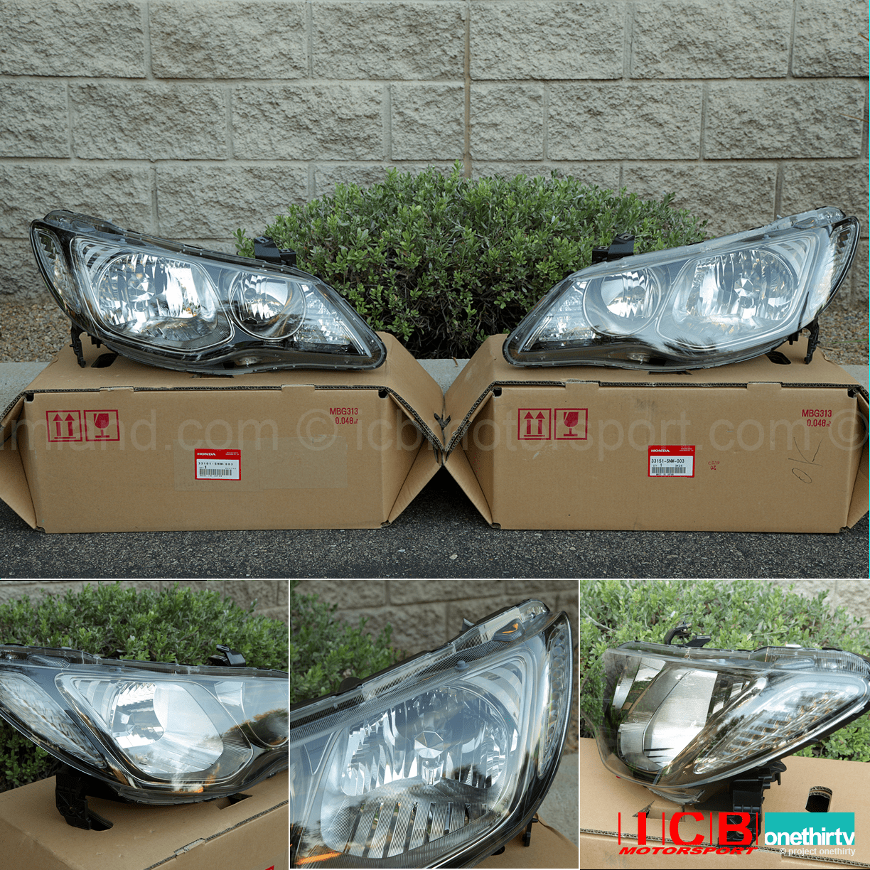 JDM Honda Civic Type R FD2 Non HID Headlight Housing