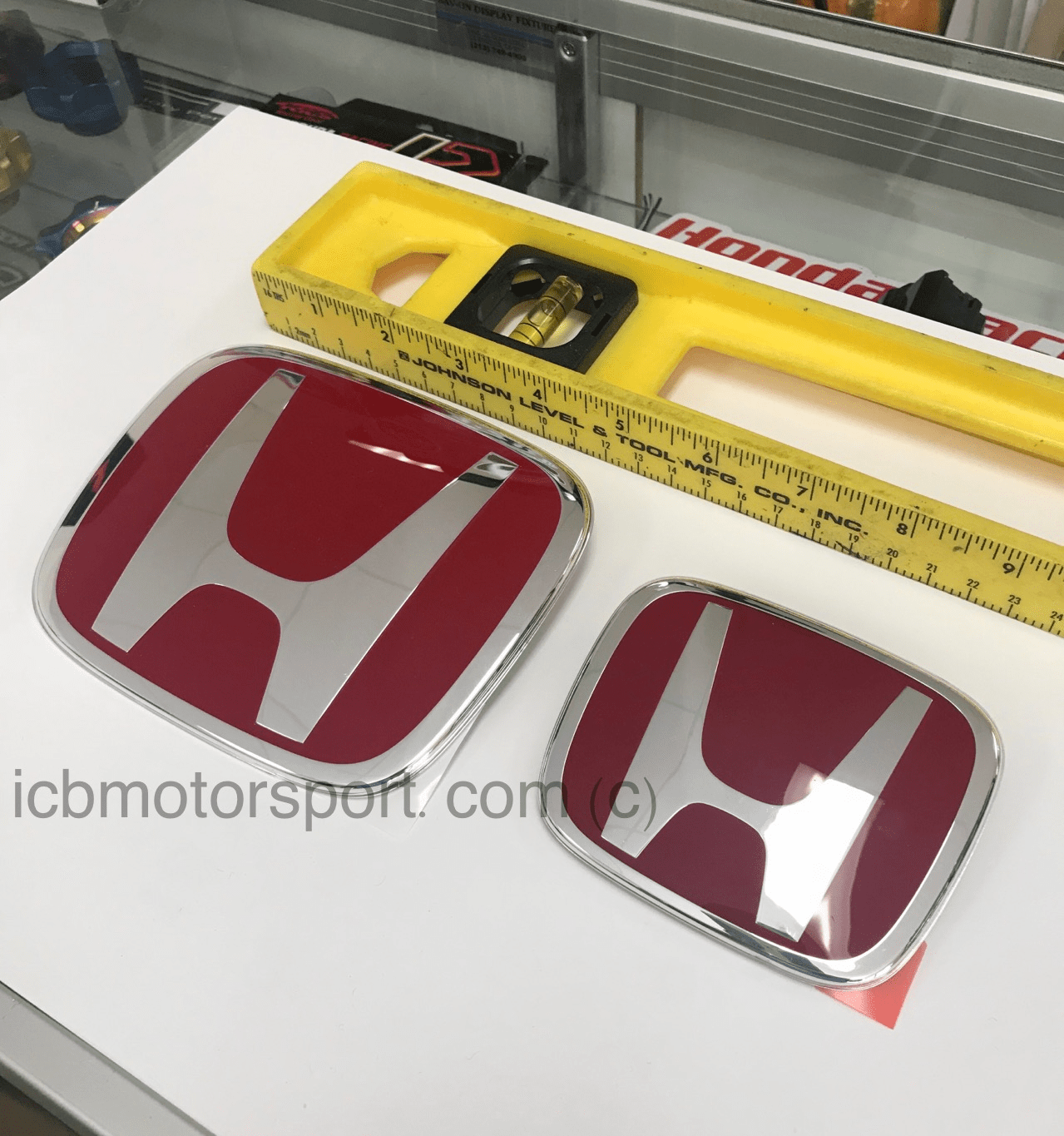 JDM Honda GK Fit 2015-2017 and 2018+ Front and Rear H Red H Combo
