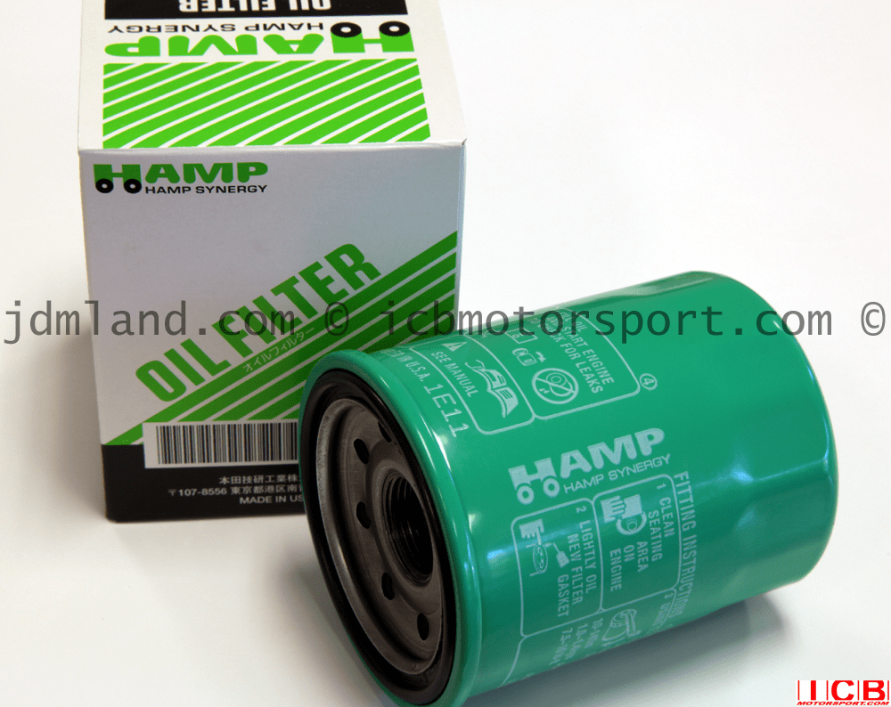 JDM Honda Hamp Synergy Medium Oil Filter Green Made In USA