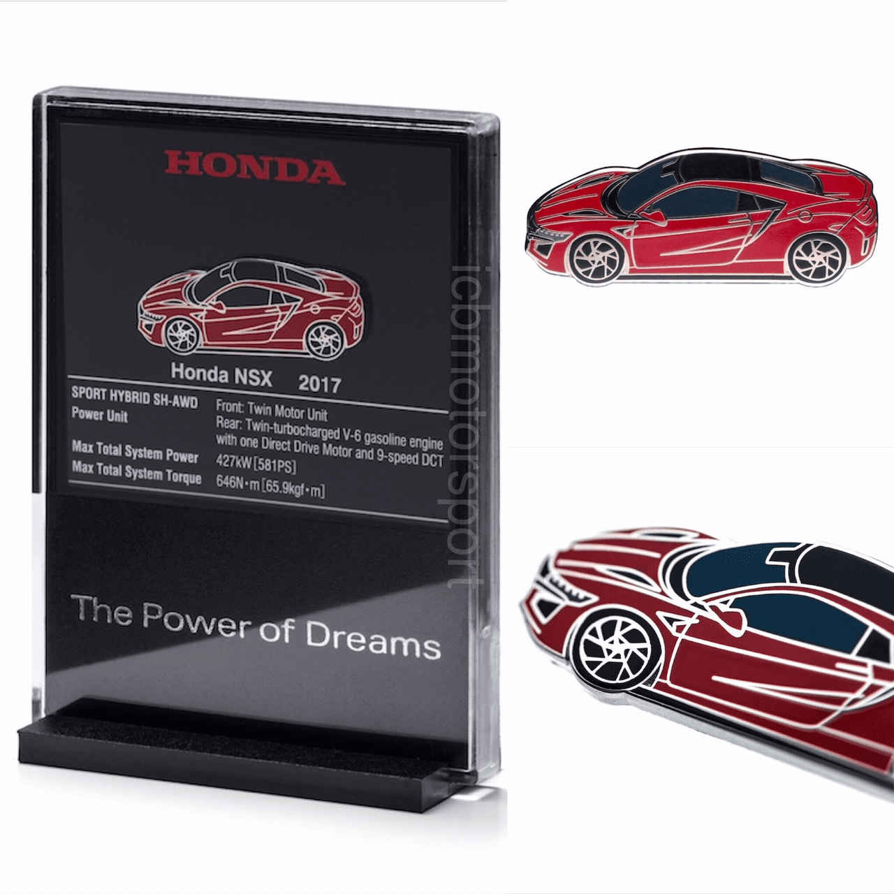 "JDM Honda ""NSX NC1 Red""  Pin and Display Holder"