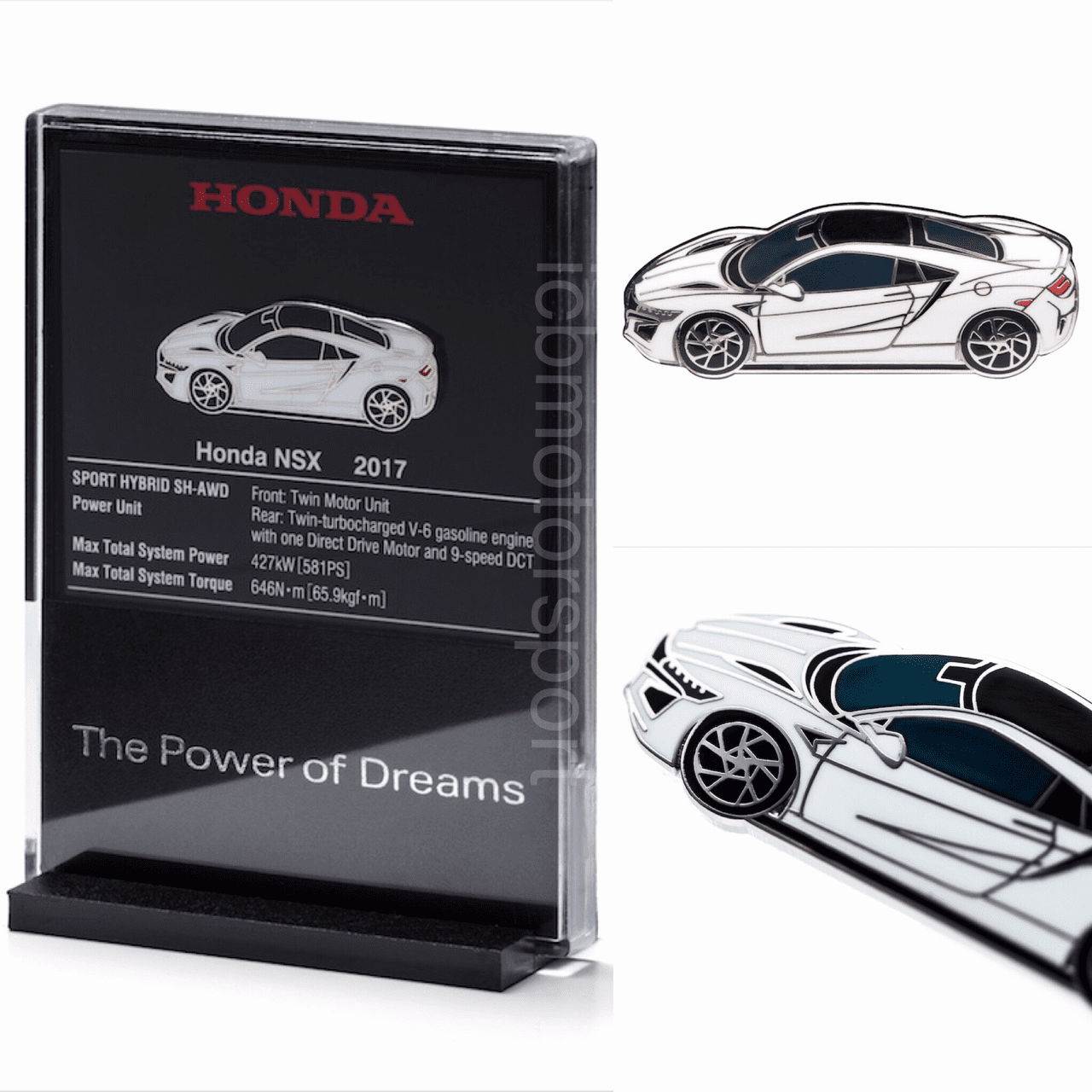 "JDM Honda ""NSX NC1 White""  Pin and Display Holder"