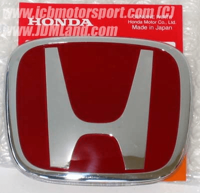 "JDM Honda S2000 AP1 AP2 RED ""H"" Emblem Front or Rear"
