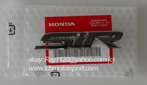 "JDM Honda ""SiR"" Gunmetal Emblem (Rear)"