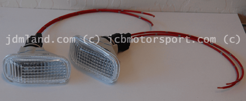 JDM Integra DC5/EP3 Type R CLEAR Side Markers ( w/ Wiring)