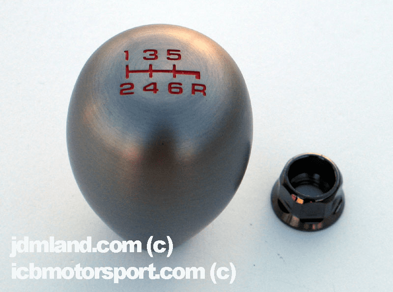 JDM Integra DC5 Type R Aluminum 6 Speed Shift Knob Bronze with locking nut