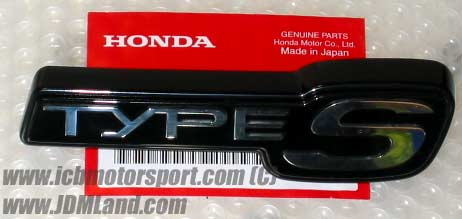 """JDM Prelude BB6 Type S """"Type S"""" Front Badge"""
