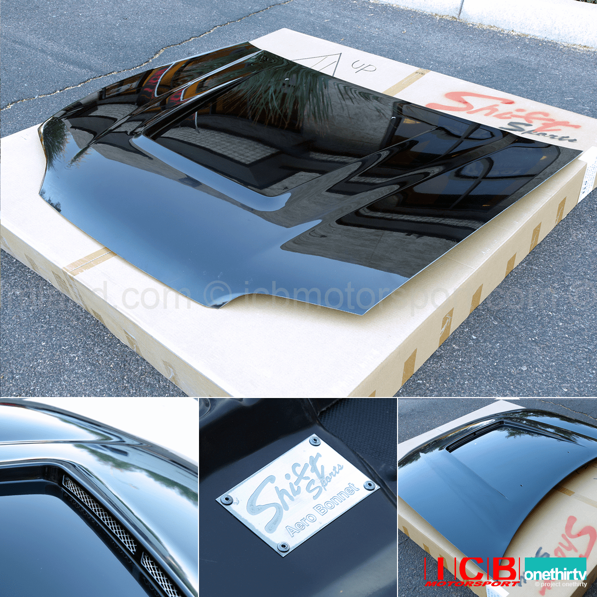 JDM Shift Sports FRP Aero Vented Hood Honda Civic EG6