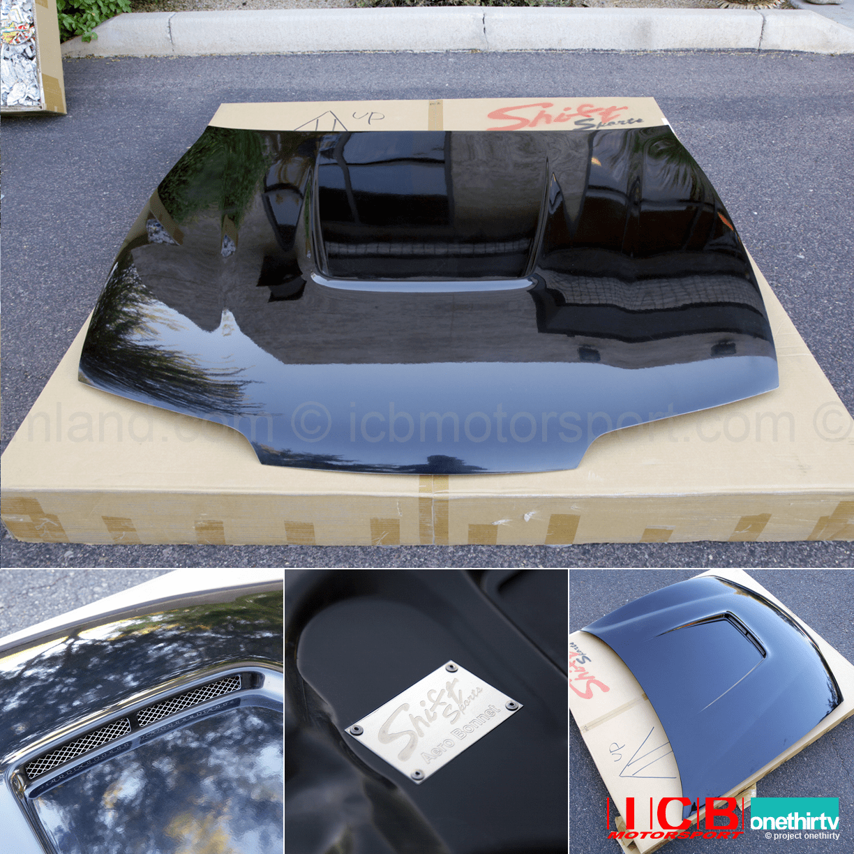 JDM Shift Sports FRP Aero Vented Hood Honda Integra DC2