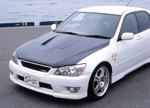 JDM Shift Sports FRP/Carbon Aero Vented Hood Toyota Altezza IS300 SXE10 PRE-ORDER