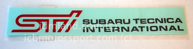 "JDM Subaru Tecnica International STI Decal 8"" Free Shipping"