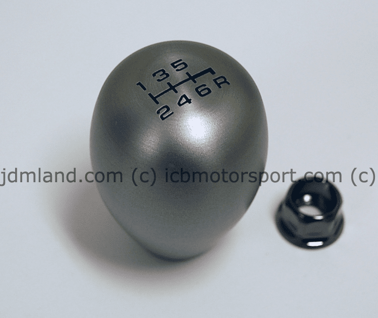 JDM USDM Honda Aluminum Silver 6 Speed Shift Knob with Locking Nut