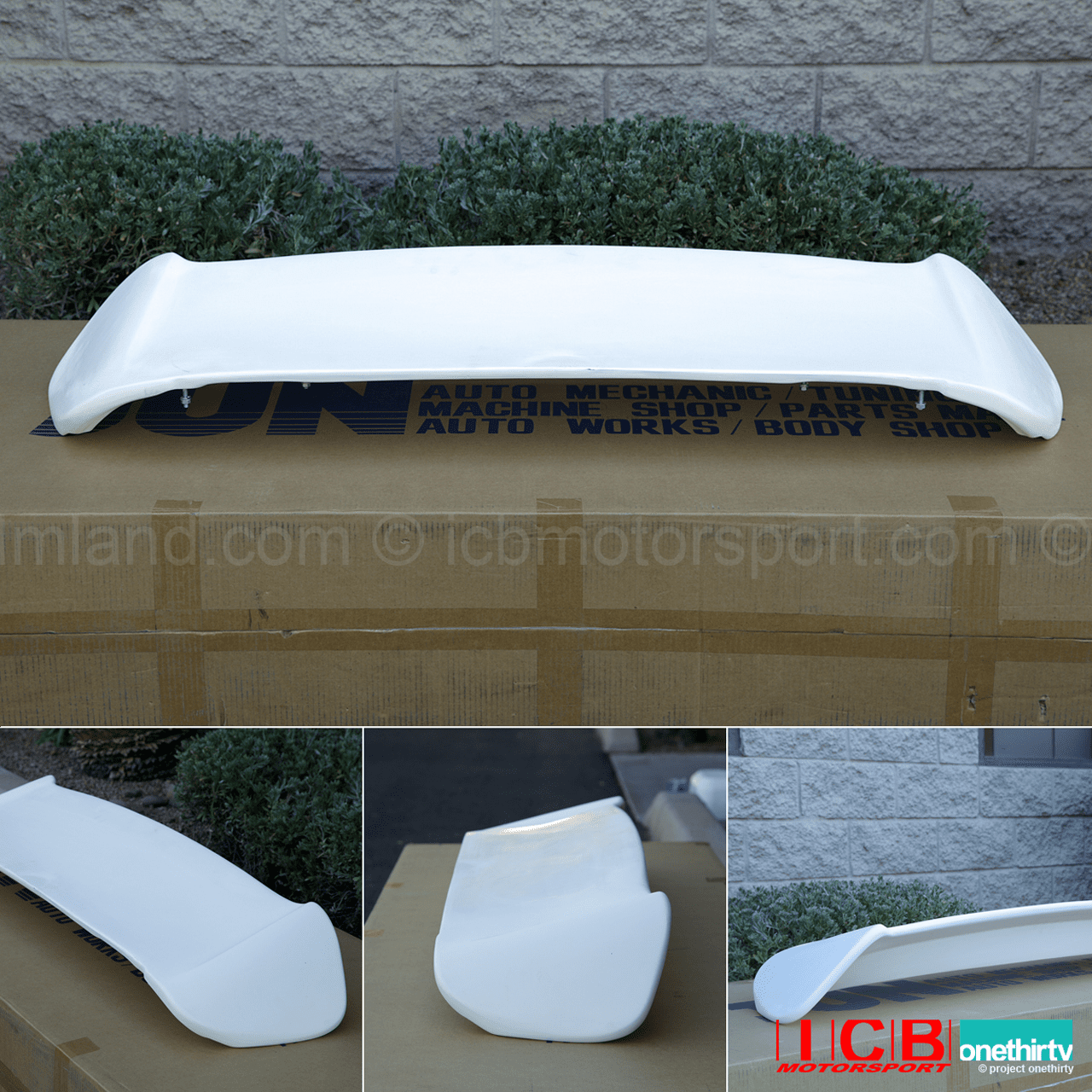 JUN Auto Mechanic Civic EK9 Hatchback Aero Wing FRP