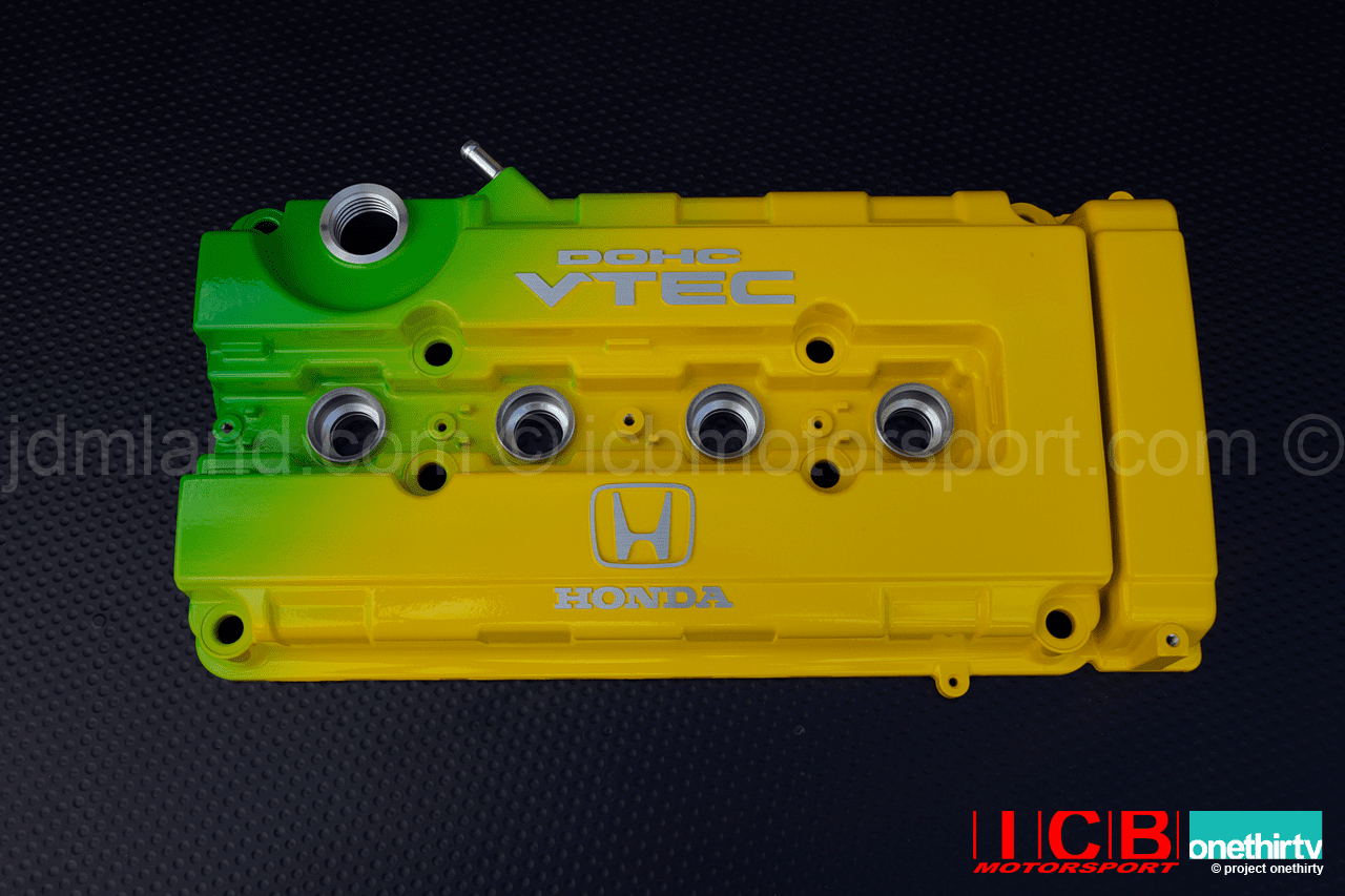 JUN Auto Mechanic Green Yellow B16A B18C5 Valve Cover