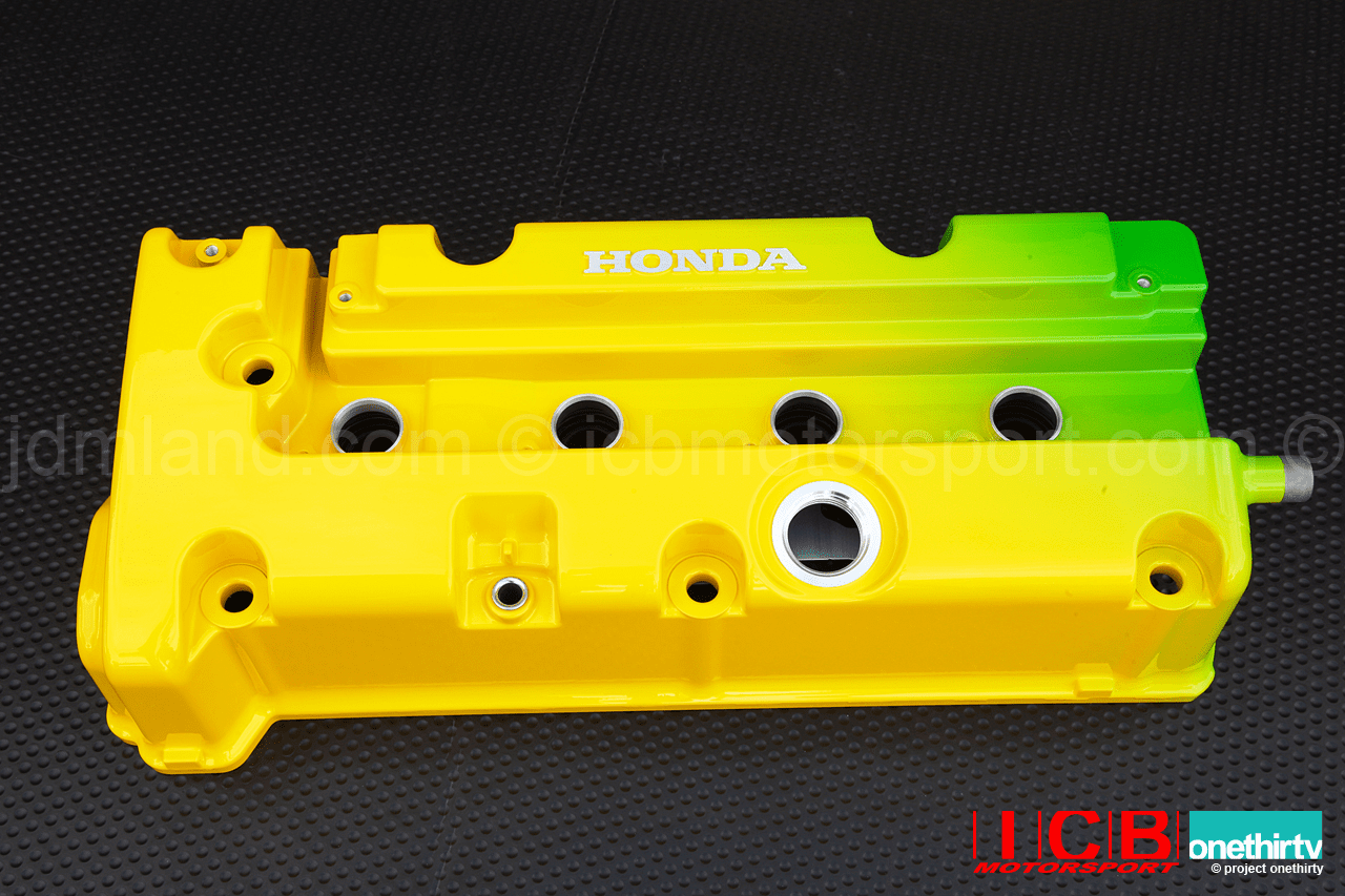 JUN Auto Mechanic Green Yellow K Series Valve Cover