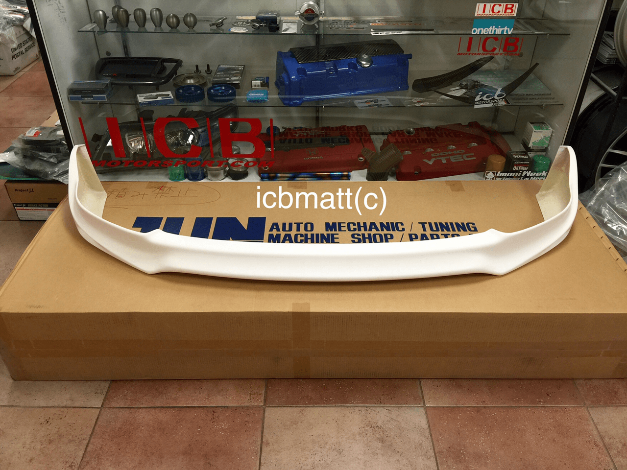 JUN Auto Mechanic Honda Civic EK9 96-98 Aero Front Lip FRP