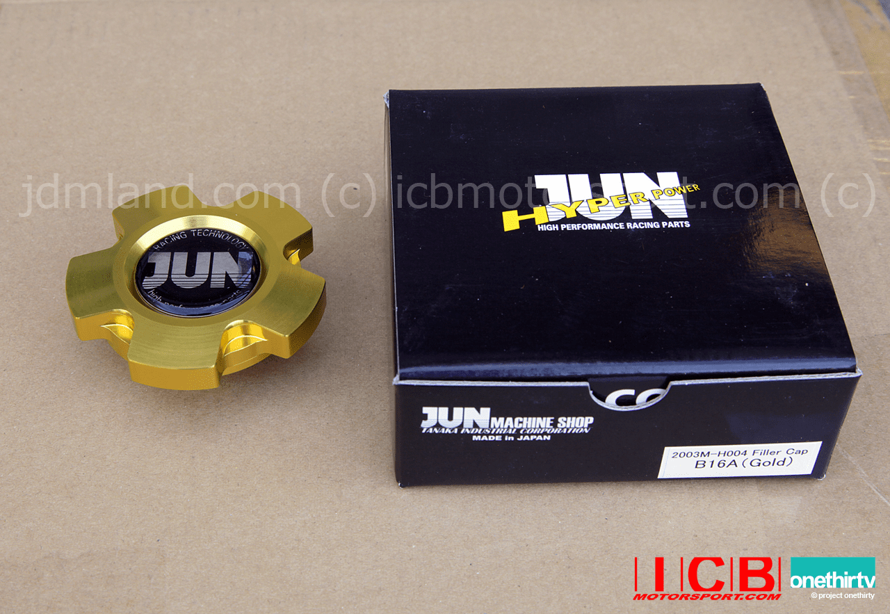 JUN Auto Mechanic Oil Filler Cap Gold B Series Engines Fit F/H Motors