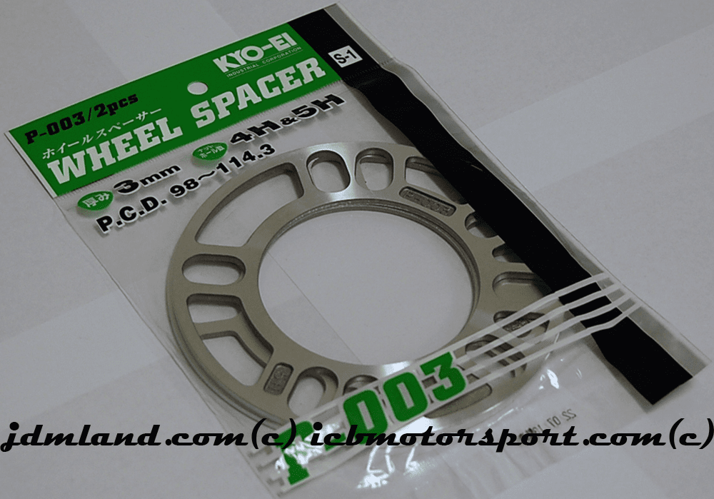 KYO-EI Project Kics Universal Plate Spacers - 3mm Pair