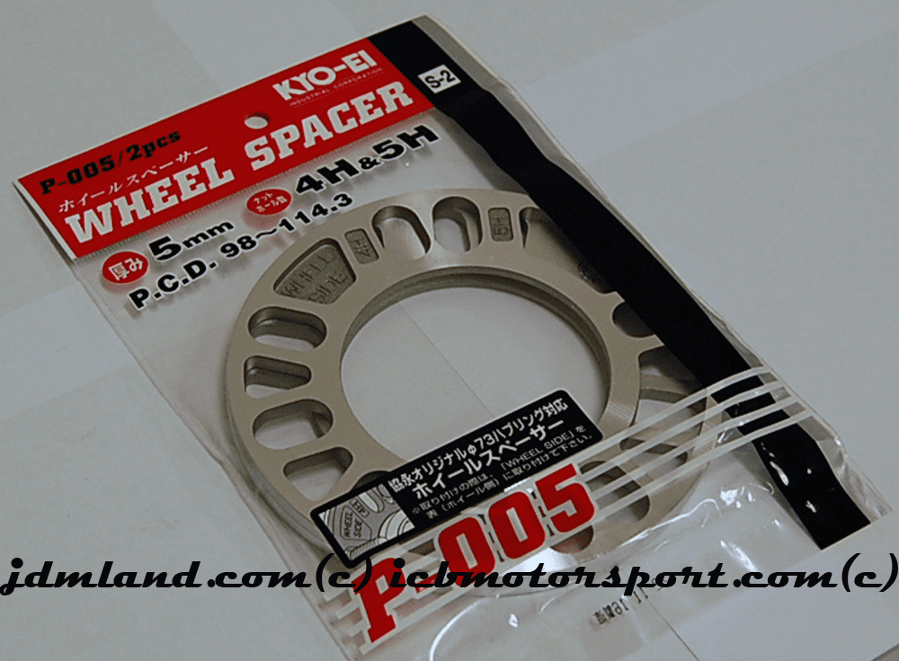 KYO-EI Project Kics Universal Plate Spacers - 5mm Pair