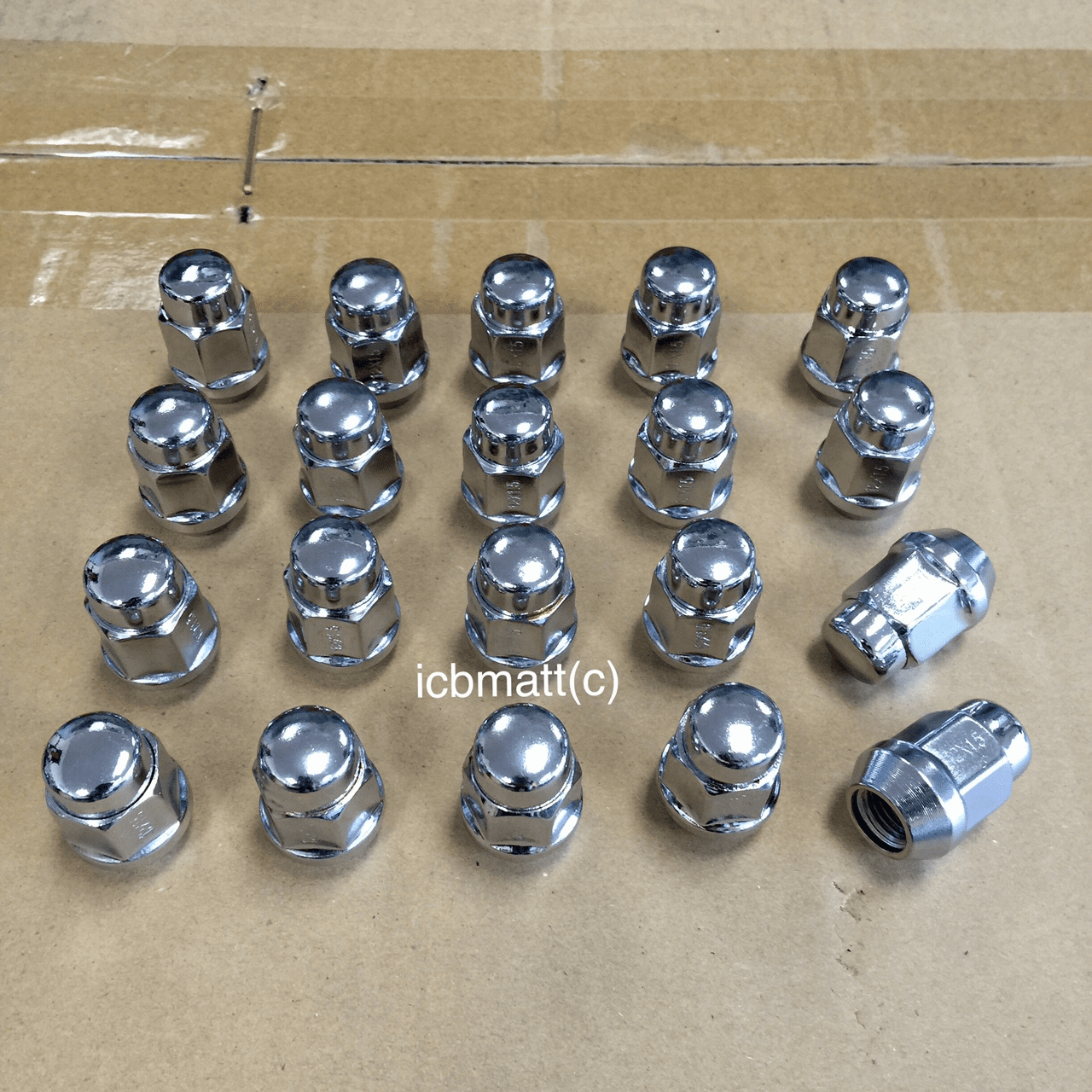 Mackin Industries Stainless Steel Lug Nut Set 35mm 12X1.50mm FREE SHIPPING