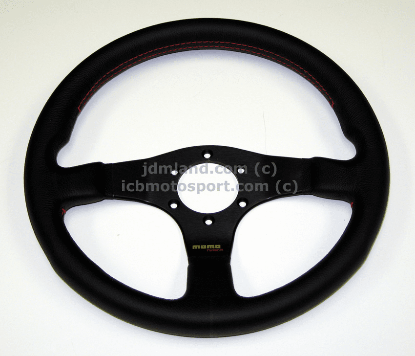 MOMO Tuner Steering Wheel Red Stiching 320mm/350mm