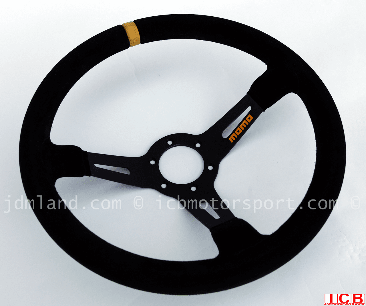 Momo Volanti Mod 08 Deep Dished 350mm Suede Steering Wheel