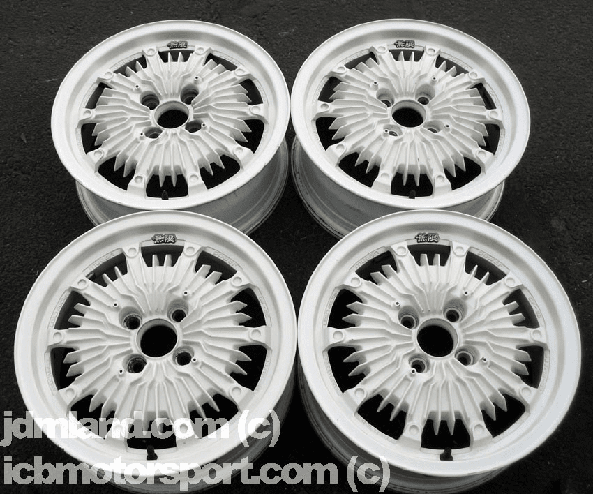 "Mugen CF48 15"" White 4X100 - Mint Condition - SOLD"
