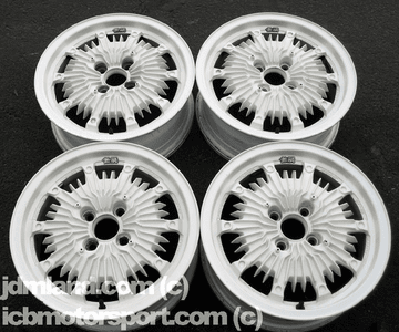 """Mugen CF48 15"""" White 4X100 - Mint Condition - SOLD"""