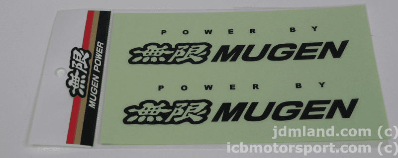 "Mugen Decals Set 312A ""Power by Mugen"""