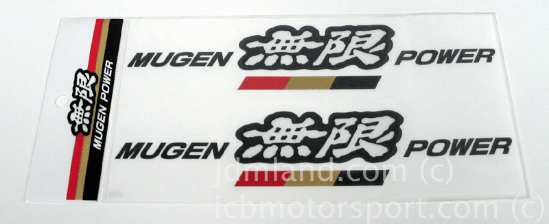 Mugen Decals Set H CV61 (Black/White)