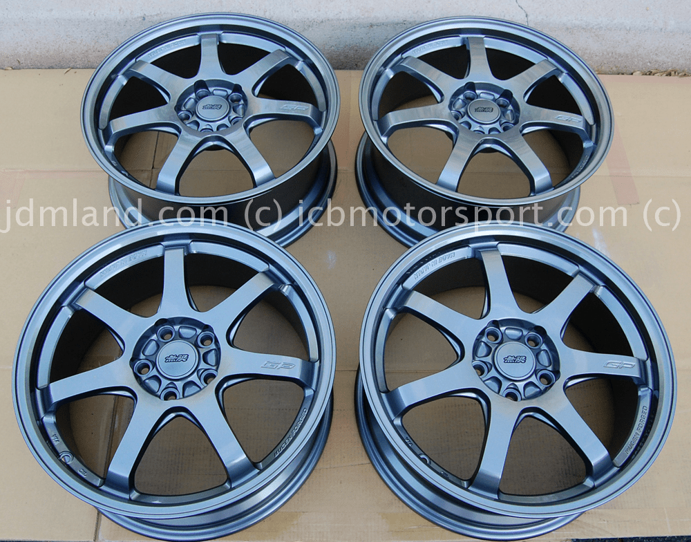Mugen GP Forged Wheel Gun Metallic Finish 18x7.5 +48 Offset Honda CRZ 2011+