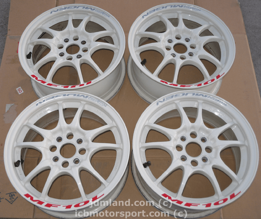 MUGEN MF10L WHITE 15x6.5 +45 4X100 - SOLD!