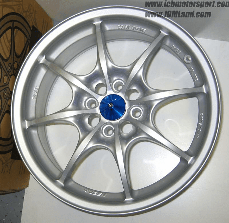 Mugen MF8 16X7.0+43/4:100 (W/Center Cap) Silver - SOLD