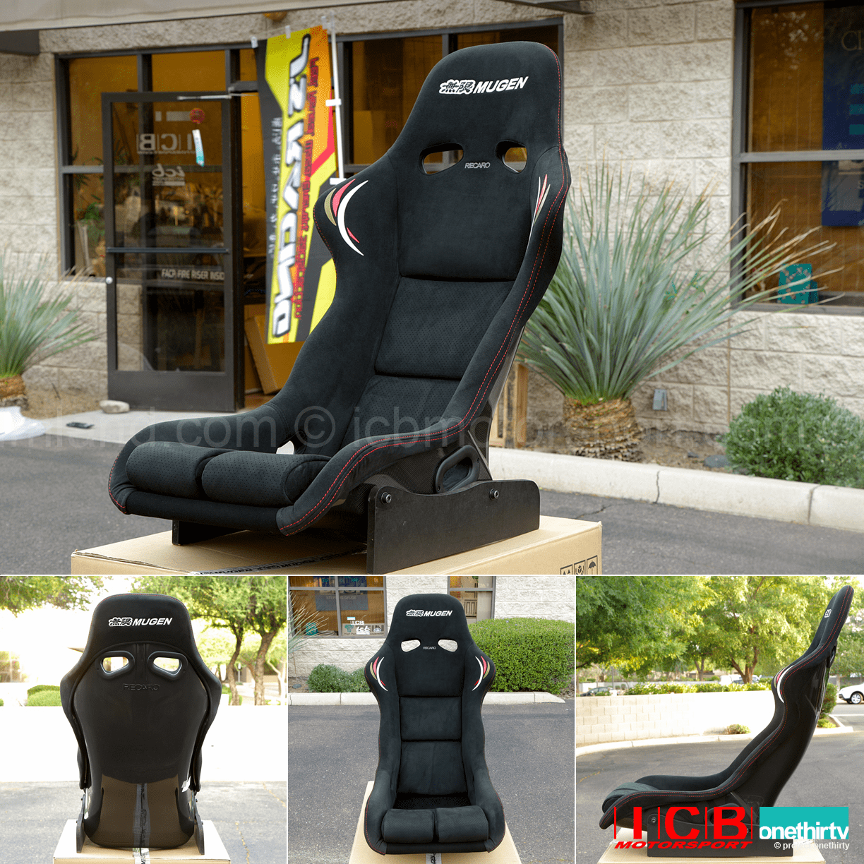 Mugen MS-R MSR Full Bucket Seat 81100-XXF-K0S0 Carbon Shell Alcantara (c) Fabric
