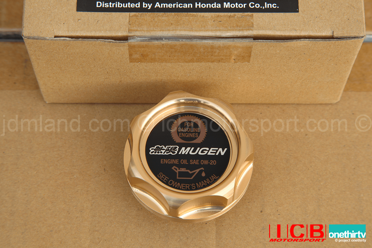 Mugen Oil Cap Gen 2.5  Fits All Hondas/Acuras Gold